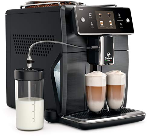 Saeco Xelsis Programmable 3.5″ Touchscreen Super Automatic Espresso Machine – Titanium – SM7684/04