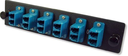 Lynn Electronics 12 Fiber LC Singlemode Adapter Strip, 6 Duplex LC Ports, LGX Footprint