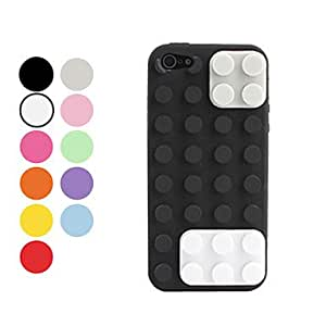 Toy Bricks Design Soft Case for iPhone 5 (Assorted Colors) - COLOR#Purple