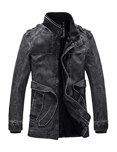 for BESBOMIG Warm 2XL Black Winter Casual Personality Size Outdoor Washed Youth 4XL Coat Leather Outwear Mens PU Zipper XL 3XL Jacket RPPrB