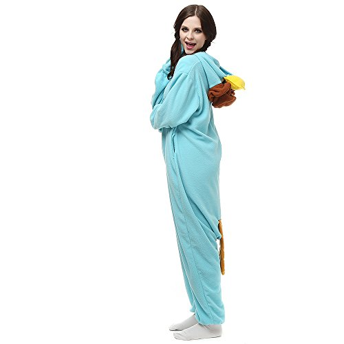 Unisexo Adulto Traje Disfraz Adulto Cosplay Animal Pyjamas LTY117Azul