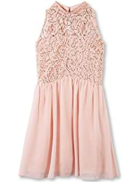 Speechless Big Girls' Glitter Lace to Chiffon High Neck Dress
