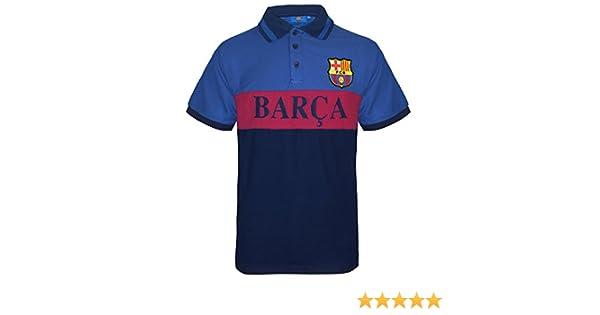 FC Barcelona - Polo oficial para hombre - Azul - Rayas azules ...