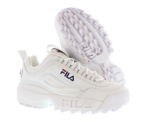 Fila White II Hombre Disruptor para Vred Peact Zapatillas pwPqprH