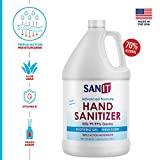Sanit Moisturizing Hand Sanitizer Gel 70% Alcohol - Kills 99.99% Germs, Advanced Formula with Vitamin E andAloe Vera - Soothing Gel, Fresh Scent, Made in USA - 1 Gallon