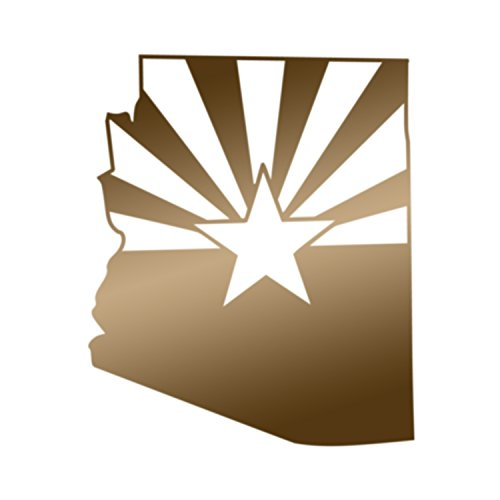 Applicable Pun Arizona State Flag Cut From Silhouette - Vinyl Decal for Outdoor Use on Cars, ATV, Boats, Windows and More - Copper 4 inch