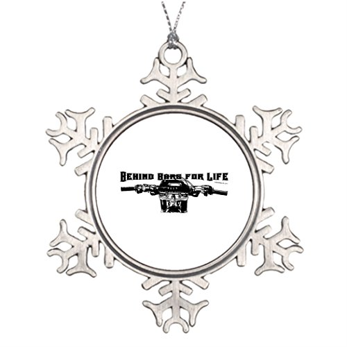 Touytlyd Personalised Christmas Tree Decoration Motocross Racer Cute Christmas Snowflake Ornaments Motorcycles Behind Bars For Life 鈥 Motocross (Tree Bars Moto)