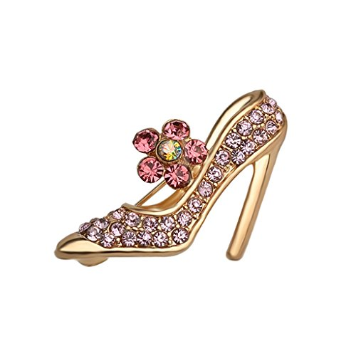 [High Heels Shose Flower Rhinestone Brooch Pin Women Jewelry Sweater Shawl Scarf Buckle] (Peppermint Butler Costume)