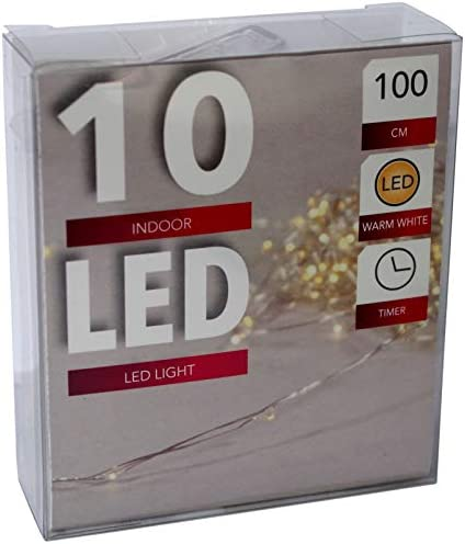 Idena 832.5099 Lichterkette Kirschbl/üten 10er warmwei/ß ca 120 cm lang batteriebetrieben