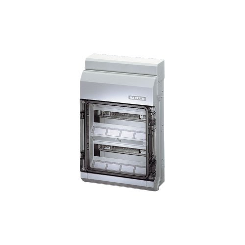 Hensel KV 9224 Circuit Breaker Box 24 Division Units, 2 Rows, Transparent Door by KV by Hensel