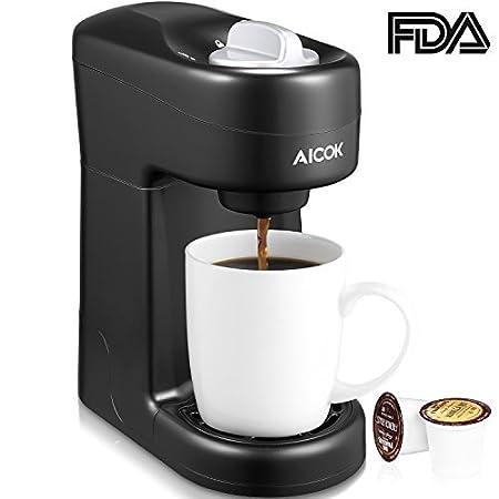 aicok único servir cafetera eléctrica, Máquina de café para ...