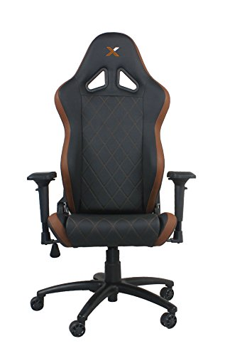 41ww%2BdaIm5L - Ferrino-Line-Brown-on-Black-Diamond-Patterned-Gaming-and-Lifestyle-Chair-by-RapidX