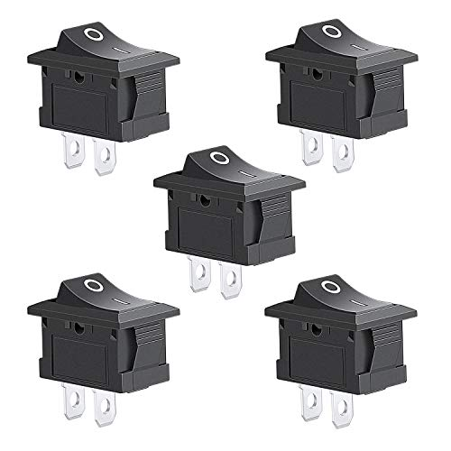 5Pcs 2 Pin Snap-in On/Off Position Snap Boat Rocker Switch 12V/110V/250V OT8G