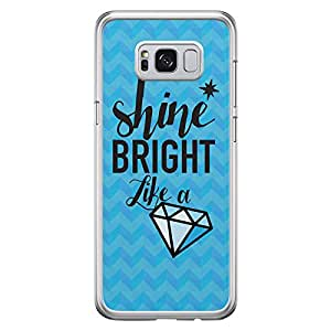 Samsung S8 Plus Transparent Edge Case Shine Bright Like A Diamond -Multicolor