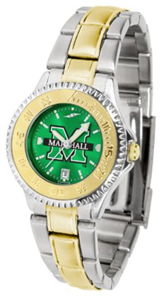 (SunTime Marshall Thundering Herd Competitor AnoChrome Ladies Watch with Two-Tone Band)