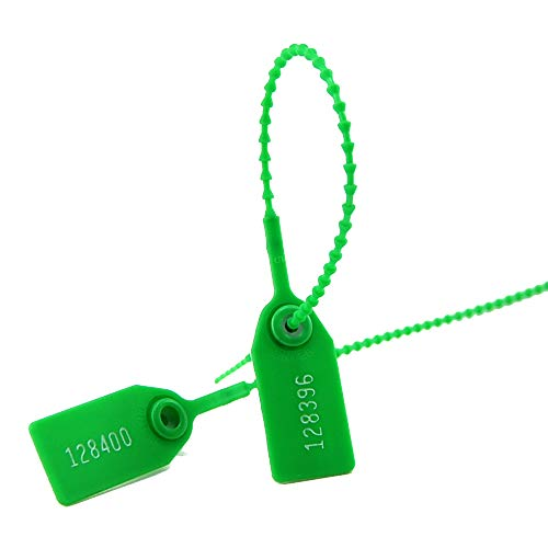 1000Pcs Breakaway Tag Disposable Tamper Evident TAS Padlock Use for Key Surgical Instrument Or Container Luggage with Uniquely Numbered (Green)