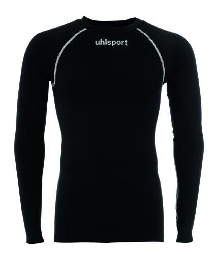 uhlsport Uni Thermo Shirt Langarm, schwarz, S/M, 100204102