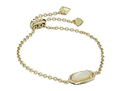 (Kendra Scott Women's Elaina Bracelet Gold/Ivory Mother-Of-Pearl Bracelet)