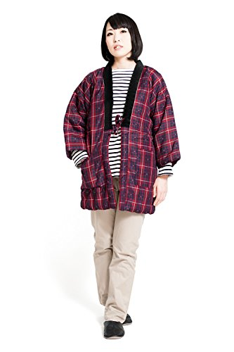 久留米織 はんてん 半纏 レディース 日本製 中綿 袢纏 どてら ちゃんちゃんこ 女性用 フリーサイズ ギフト プレゼント 母の日 敬老の日