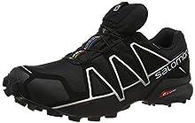 Salomon Speedcross 4 GTX, Zapatillas de Trail Running para Hombre, Negro (Black/Black/Silver Metallic-X), 44 EU