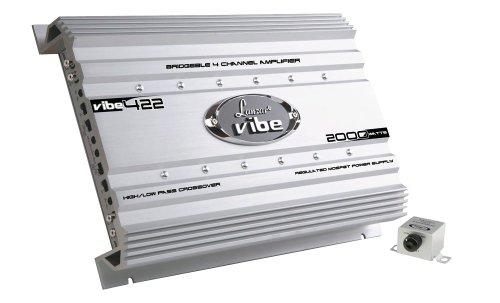 Premium Lanzar Car Audio, Amplifier Car Audio, Car Stereo Amplifier, 2,000 Watt, 2 Ohm, Mosfet Amplifier, RCA Input, Subwoofer Bass Control, Power Amp, LED Indicator, Car Electronics – VIBE422.5