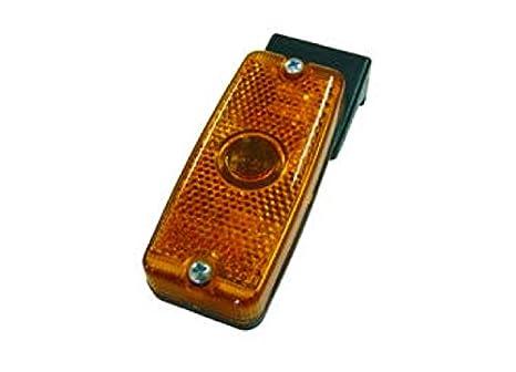 Piloto lateral para cami/ón con soporte vertical en 3 colores pack de 2 unidades AMBAR