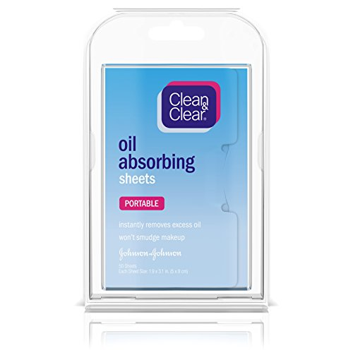 Clean & Clear Oil Absorbing Facial Blotting Sheets for Oily Skin Care to Remove Excess Oil & Shine, 50 ct.