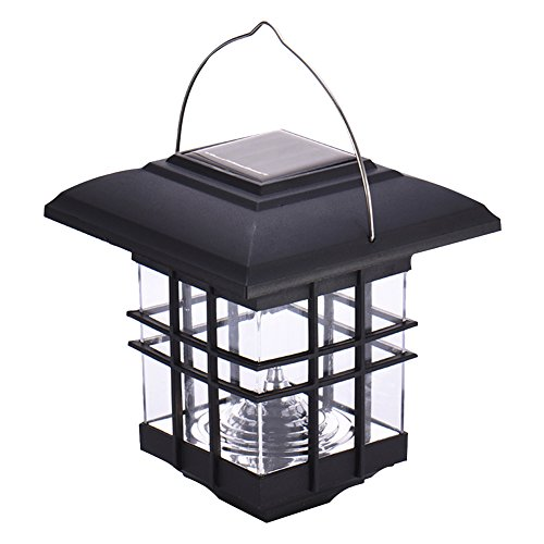 eronde Solar Portable Light House Shaped LED Solar Hanging Light Lamp for Garden Patio Yard Path by eronde