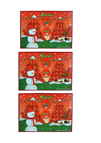 2018 Reese's Holiday Countdown Christmas Advent Calendar with Reese's Peanut Butter Cups and Candy Pieces, 1.76 oz (3 pack)