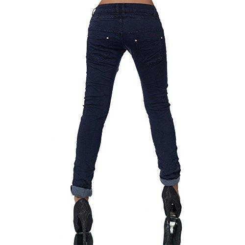 Mujer Vaqueros Oscuro Boyfriend Para 38 Azul Básico jeans Diva 7qwHxBfXf