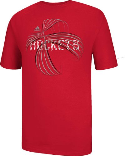 adidas Houston Rockets Red NBA Basketball Short Sleeve T Shirt (XX-Large)