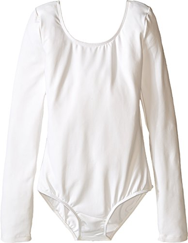 Bloch Girl's Essential Long Sleeve Leotard 12 White