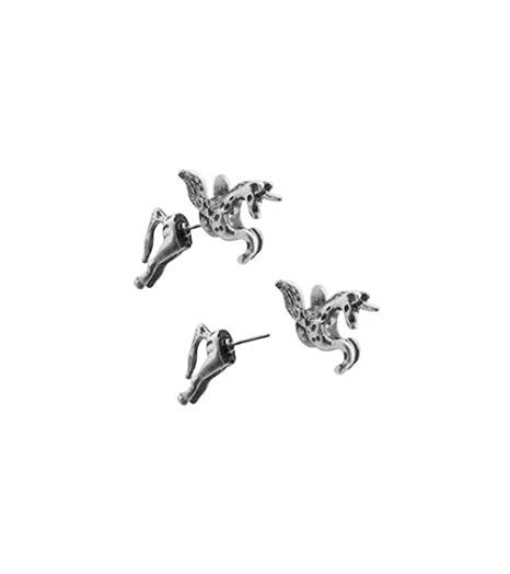 Amazon Com Tdz Trick Post Magical Pegasus Fantasy Earrings