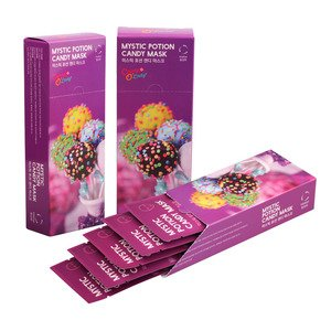 (Candy O' Lady Mystic Potion Candy Korean Face Mask Sheets 5 Pack | Vitalizing, Hydrating, Softening, Cleansing, Detoxifying & Nourishing Facial Treatment)