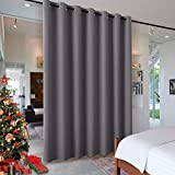 RYB HOME Blackout Blind Curtains Space Divider Adjustable Ceiling to Floor Blackout Curtain Drape for Bedroom/Dorm Decor/Doorway Curtain, Wide 8.3 ft...