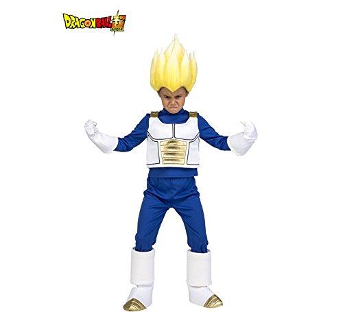Disfraz de Saiyan Vegeta de Dragon Ball con Peluca para niño: Amazon.es: Juguetes y juegos