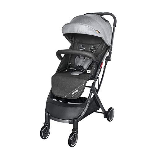 besrey Lightweight Stroller Airplane All Terrain Folding Travel Pushchair with Pull Rod, for Newborn Toddler Baby Boy Girl