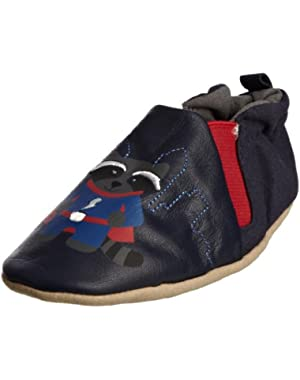 Soft Soles Crib Shoes- Good Guy Bad Bear Gryna- Reversible- 2 Styles in 1