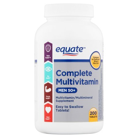 Equate Complete Multivitamin for Men 50+, 200 Ct