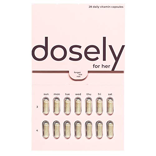 Dosely Women's Multivitamin | Plant-Based, Habit Friendly Vitamins | 22 Essential Vitamins & Minerals | Vegan, Non-GMO, Gluten & Allergen Free | USA Made | 1-Month Supply