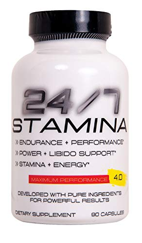 24/7 Stamina Testosterone Booster - Improved Increase Energy, Endurance Best Stamina Physical Performance Horny Goat Weed, maca and Cayenne 90 caps Pentlab