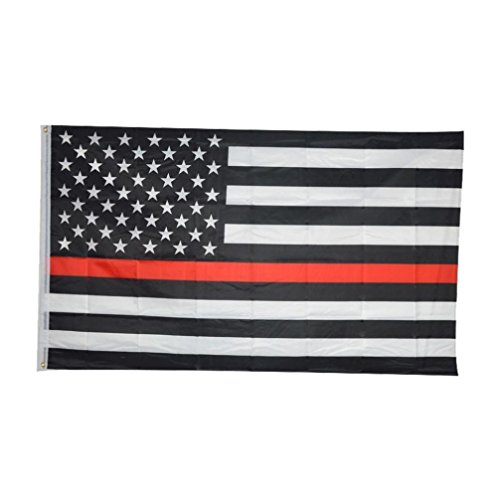 - Thin Red Line Flag 3x5 Foot Black White and Red American Flag Honoring Firefighters and EMTs