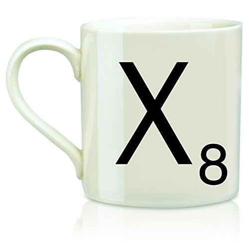 "SCRABBLE Vintage Ceramic Letter""X"" Tile Coffee Mug"