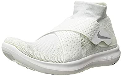 Nike Womens Free RN Motion Flykknit 2017 Running Trainers 880846 Sneakers Shoes (UK 4 US 6.5 EU 37.5, White Wolf Grey Pure Platinum 100)