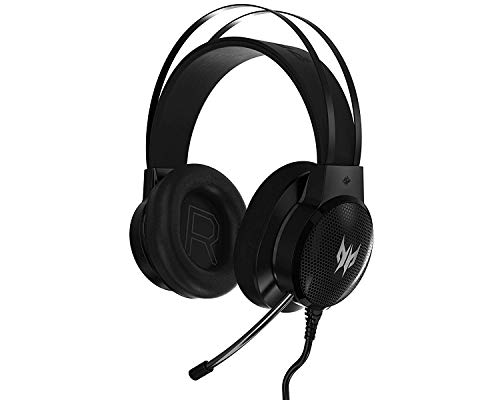 Acer Predator Galea 300 Gaming Headset - TrueHarmony Technology, 40mm Driver Bio-cellulose, Retractable Omni-directional Microphone