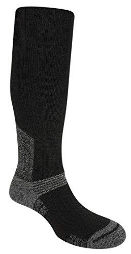 Bridgedale Mens Summit Knee Wool Fusion Socks, X-Large, Black with Sock Ring