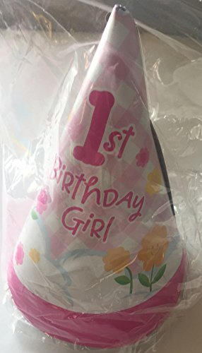 - Care Bears Girl 1st Birthday Pink Party Cone Hats - 8 Count