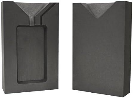 5 Troy Ounce Gold Rectangular Two Part Split Graphite Ingot Mold Precious Metal Casting Melting
