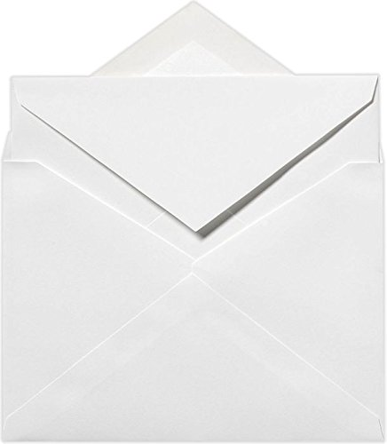 (5 1/2 x 7 3/4 Outer Envelopes - 70lb. Bright White (50 Qty) | Perfect way to add a Traditional look to your Invitations, Notecards and Announcements | SIVV916-50)