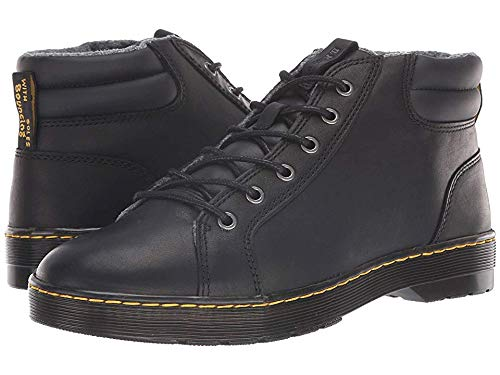 (Dr. Martens Men's Plaza Cruise Black Luxor/Veg Temperley 10 M UK M)